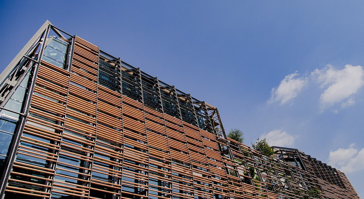 Details of the Green Pea building under construction in Turin