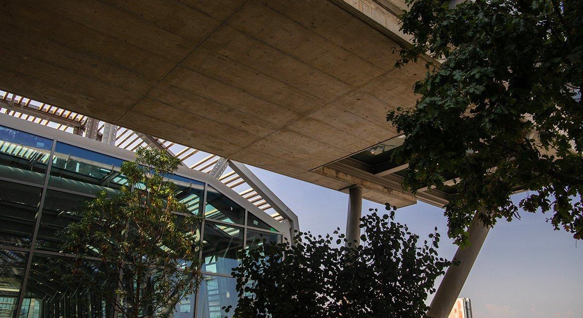 Dettagli edificio Green Pea in costruzione a Torino