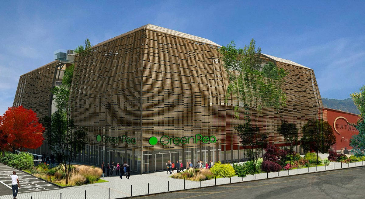 Rendering of the Green Pea building in Turin